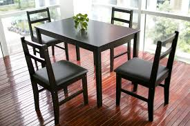 amazon com merax 5pc dinning set table with 4 chairs soild wood
