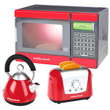 Microwave And Toaster Set Casdon Morphy Richards Toy Kitchen Set Microwave Kettle Toaster