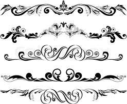 vector illustration set of decorative horizontal elements for