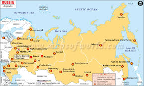 european russia map cities airports in russia russia airports map