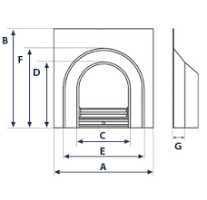 Fireplace Insert Dimensions by Clifton Brompton Fireplace Package Stanningley Firesides