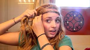 hippy headband hippie headband and normal braided headband