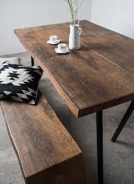Esszimmertisch Dunkles Holz Altholzdesign Tisch Mit Edler Dunkler Färbung Von Sunwood