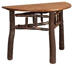 Rustic Round End Table Rustic Half Round Hall Table