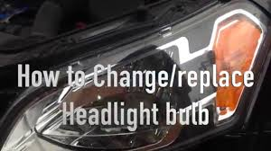 how to change replace headlight bulb from kia soul 2010 youtube
