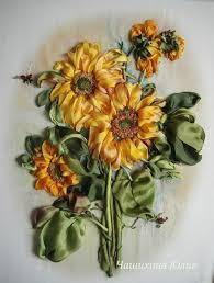 sunflower ribbon silk ribbon flower embroidery designs for beginners chilli