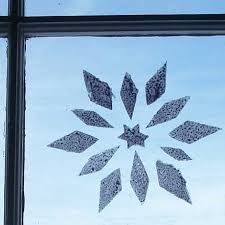 how to stencil snowflakes on windows friday s