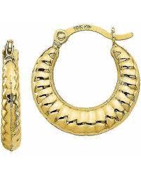 10k earrings new savings on 10k gold hoop earrings