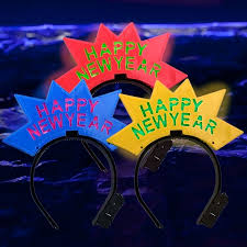 led new years led new year crown headband new years led party