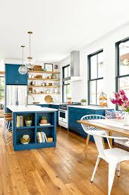 what floor goes best with white cabinets 17 blue kitchen ideas for a refreshingly colorful cooking