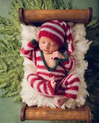 baby christmas these 17 newborns wearing knitted christmas will fill your
