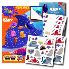 Color By Disney Amazon Com Disney Finding Dory Coloring Book With 120 Finding