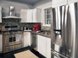 colored kitchen cabinets with stainless steel appliances appliances cool gray kitchen with stainless steel