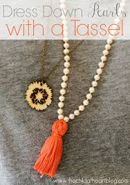 tutorial pearl necklace images Dress down a pearl necklace with a tassel child at heart blog jpg
