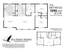 Walk Out Basement Home Plans by Floor Plans With Walkout Basement Ideasidea