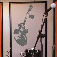 aliexpress com buy large guitar guitarist wall art decal mural