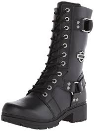 womens boots motorcycle amazon com harley davidson s eda boot mid calf