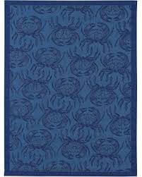 surprise 20 off 8 u0027x10 u0027 outdoor rug crab threshold blue