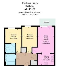 2 bed flat for sale in clarkson court hatfield al10 44186254