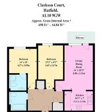 hatfield house floor plan 2 bed flat for sale in clarkson court hatfield al10 44186254