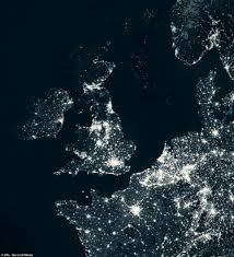World At Night Map by Revealed The Stunning Images Which Show How Europe Wastes Energy