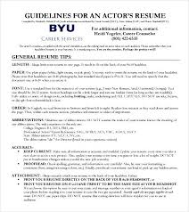 free acting cv template free samples examples u0026 format resume
