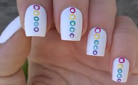 life world women matte white nail art with dot design in the