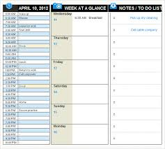 Daily Planner Template Excel Daily Planner Template Excel 2007