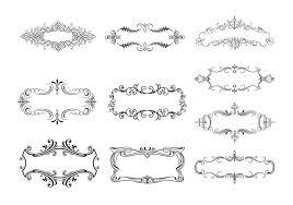 10 floral ornamental border vectors free vector