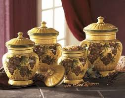 canisters kitchen decor grape canisters kitchen glazed ceramic canister