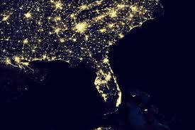 satellite map of florida new nasa images show the earth s electric light show the picture