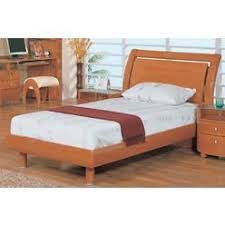 Wood Sleigh Bed Cherry Wood Twin Sleigh Bed