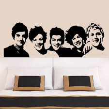 online get cheap 1d wall decals aliexpress com alibaba group one direction wall sticker 1d poster girls bedroom living home decoration pictures removable wall art wallpaper