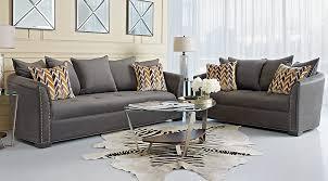 Charcoal Sofa Bed Sofia Vergara Mandalay Charcoal 7 Pc Living Room Living Room