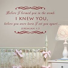 Scripture Wall Decals For Nursery Geckoo Stickers Baby Nursery Wall Decal Before I Formed You In