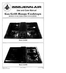 Jenn Air Gas Cooktop Troubleshooting Jenn Air Gas Grill Cg206b User Guide Manualsonline Com