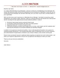 Example Of Cover Letter For A Resume by Leading Professional Account Manager Cover Letter Examples