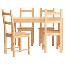 jokkmokk table and 4 chairs antique stain ikea solid pine and