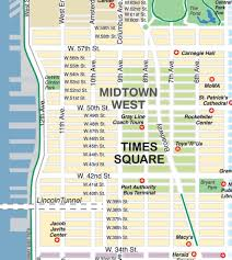 New York City On Map Map Of New York Times Square Area You Can See A Map Of Many