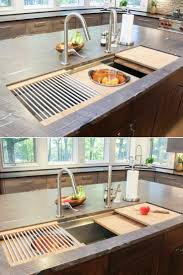 12 best sinks images on pinterest kitchen ideas dream kitchens kitchen island sink with cutting boards colander and dish drying rack custom cabinetry by
