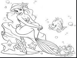 mermaid colouring pages pdf coloring printable princess