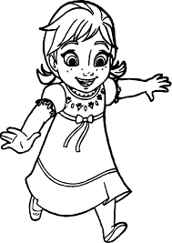 young anna coloring page wecoloringpage