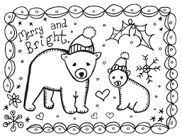 christmas cards for kids to color free download