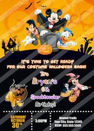 mickey mouse halloween birthday invitations partyexpressinvitations
