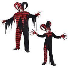 Scary Clown Halloween Costumes Men Jester Dress Costumes Men Ebay