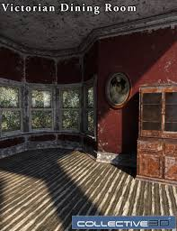 collective3d movie sets derelict victorian dining room 3d models