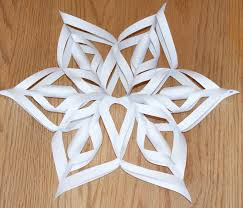 3d snowflakes tutorial template pdf for winter birthday