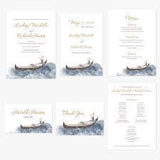vegas wedding invitations las vegas wedding invitations gondola invitations by r2