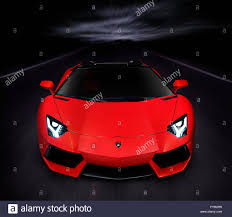 lamborghini front view red 2014 lamborghini aventador lp 700 4 roadster supercar on the