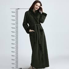 robe de chambre longue robe de chambre longue inspirant femmes épaississement